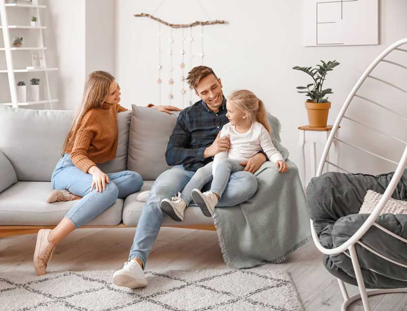 Air Authority Indoor Air Quality Family on the Couch